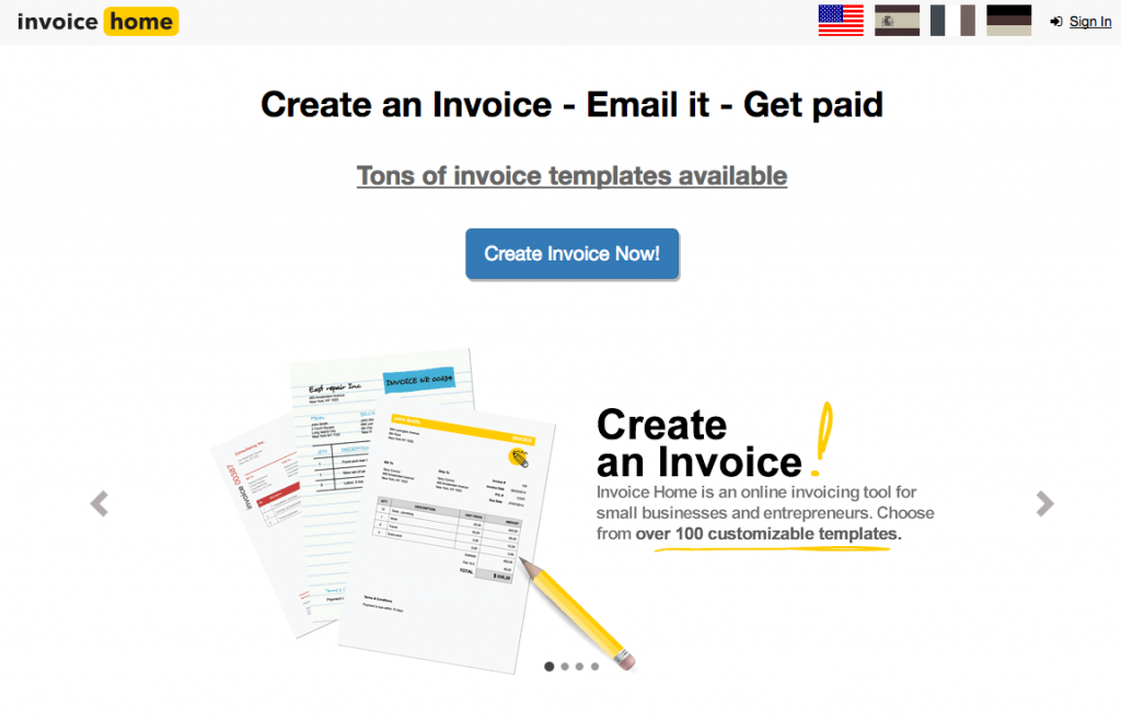 Free Invoice Tool InvoiceHome
