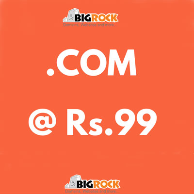 Use Coupon Code and Get .COM Domain at 99/- Only