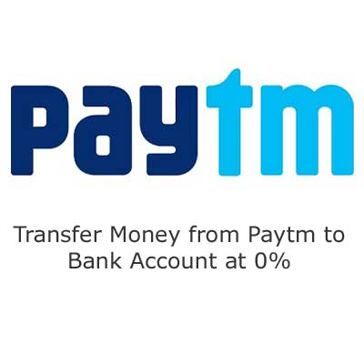 Paytm now allows money transfer to any bank account at 0% fee